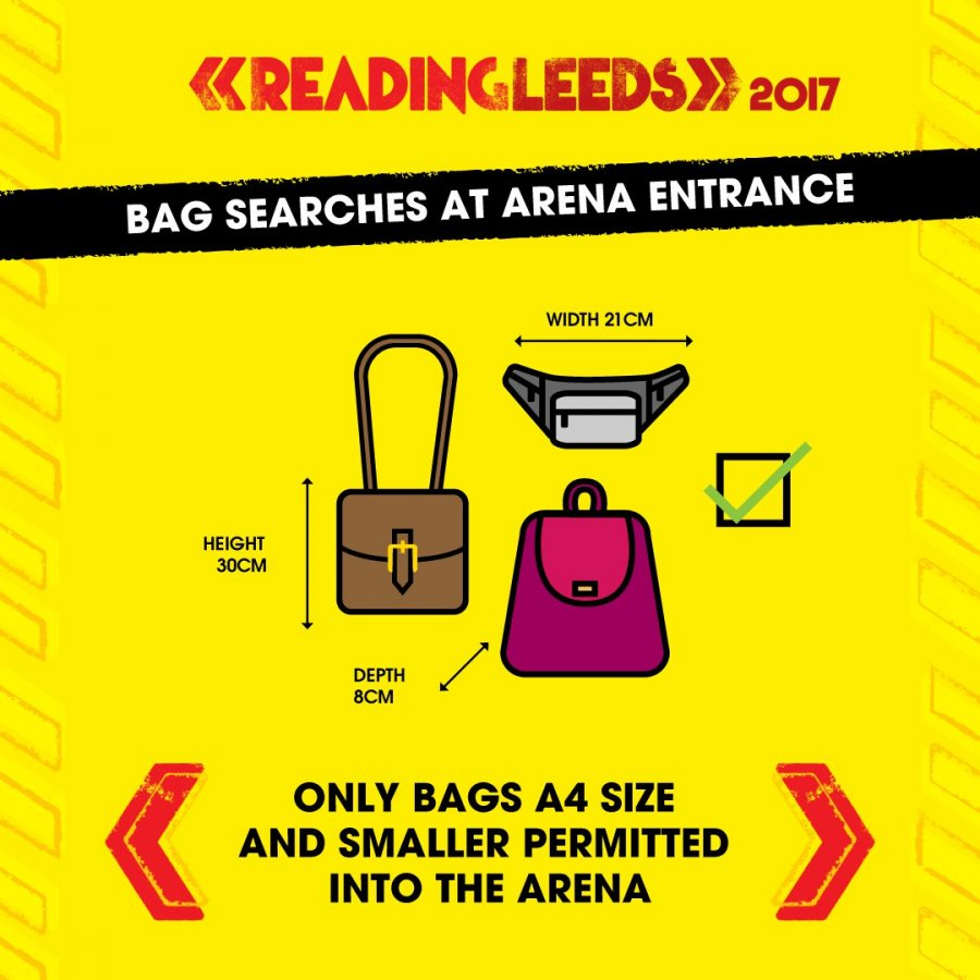 Bag searches at arena entrance
