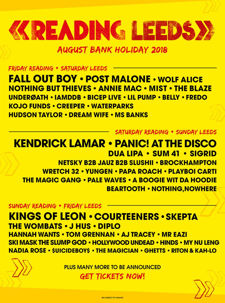 2018 line up