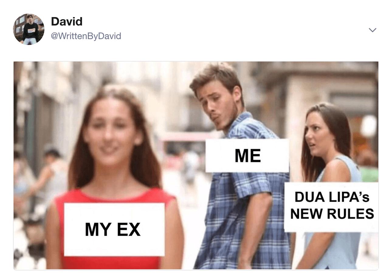 Dua Lipa Meme New Rules
