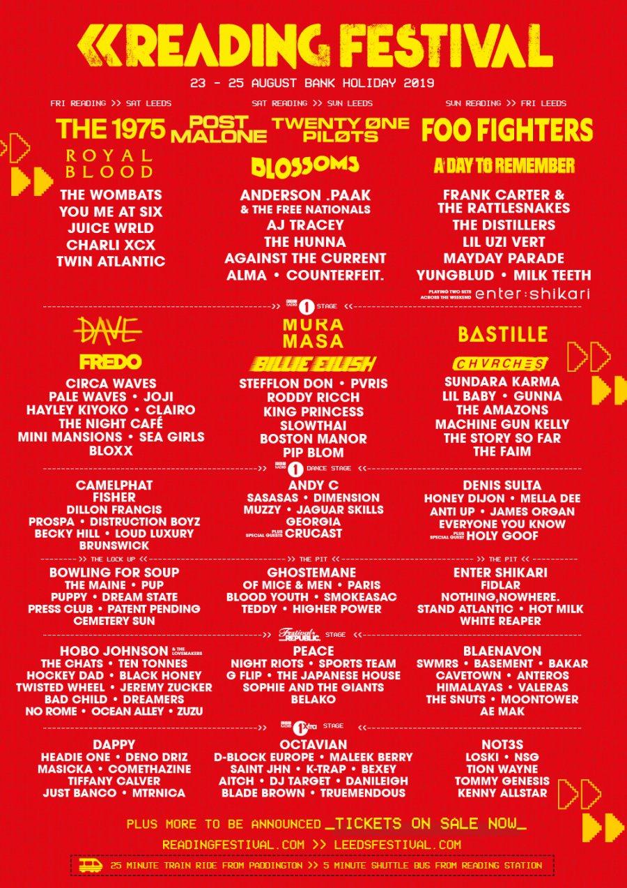 Reading Festival Line Up 2019