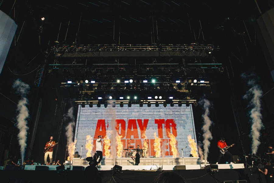 All signs point to heavy as A Day to Remember storm the stage