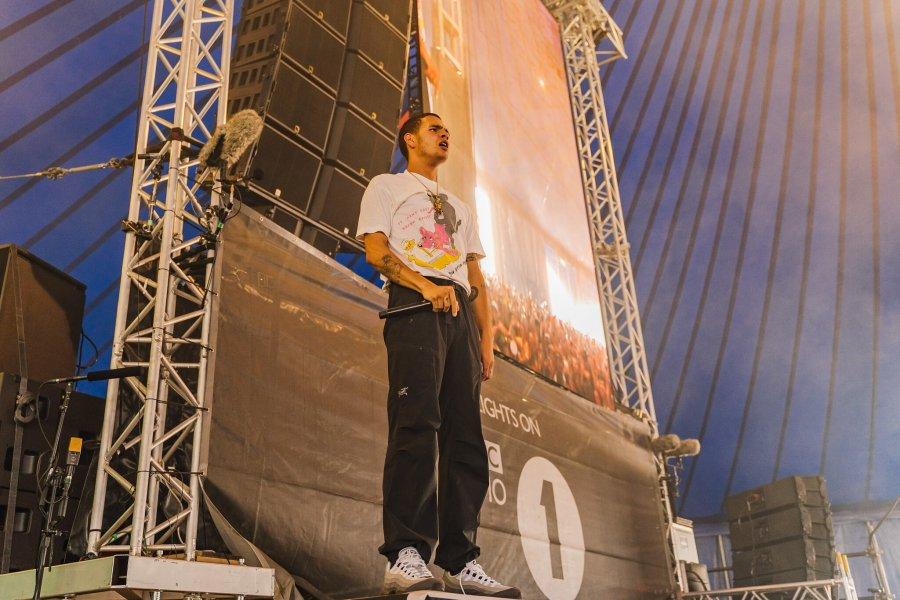 Slowthai on stage