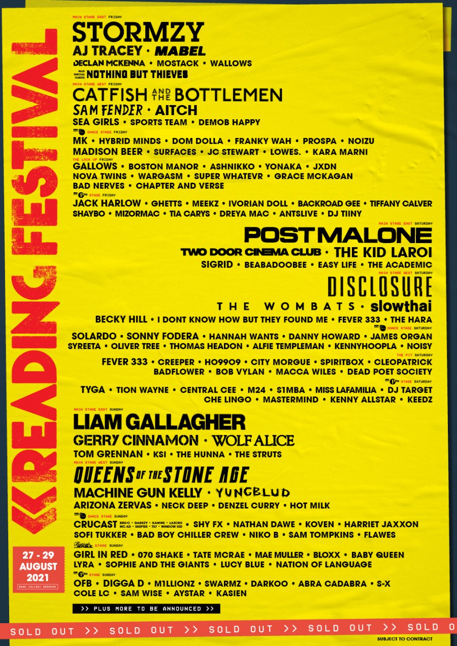 Reading line-up
